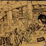 Sketch - Ở Highland cafe